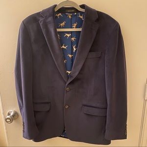 Ralph Lauren Custom Blue Velvet Dinner Jacket
